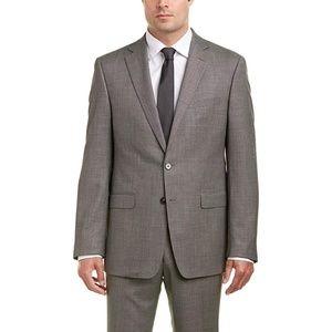 Calvin Klein Slim Fit Gray Wool Blend Blazer Med